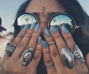 nails, coachella, and rings image