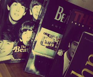 beatles, black, and boys image