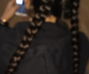 braids, hair, and diy image