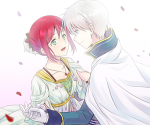 anime, akagami no shirayukihime, and couple image
