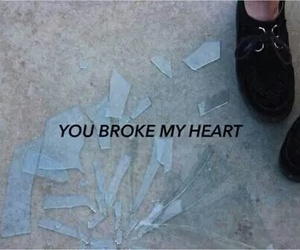 broken, heart, and sad image