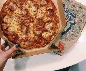food, pizza, and junkfood image