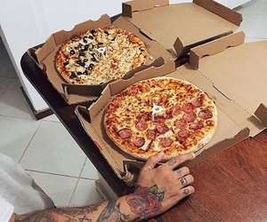 pizza, food, and tattoo image