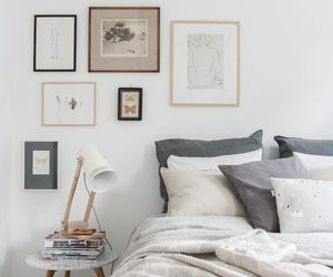bedroom, interior, and Scandinavian image