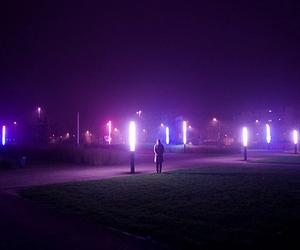 light, purple, and glow image