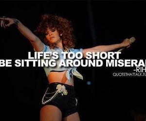 rihanna, quote, and life image