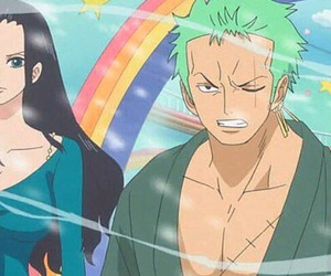 one piece, robin, and zoro image