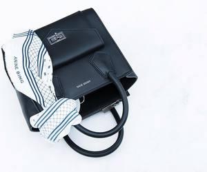 bag, black and white, and designer image
