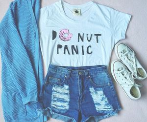 outfit, donuts, and clothes image