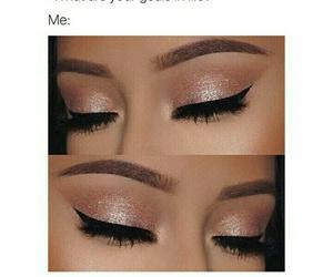 eyeliner, fashion, and pink image