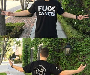clothes, shirt, and fuck cancer image