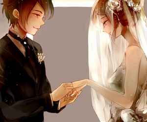 anime and anime couple image