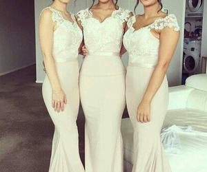 dress, wedding, and mariage image