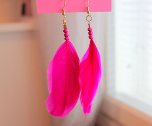 accessories, earrings, and hot pink image