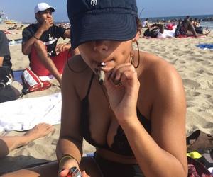 beach, mood, and sand image
