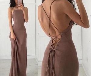 dress, hair, and long image