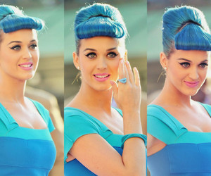 katy perry, hair, and blue image