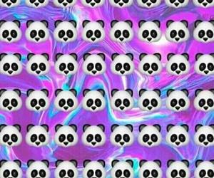emoji, panda, and wallpaper image