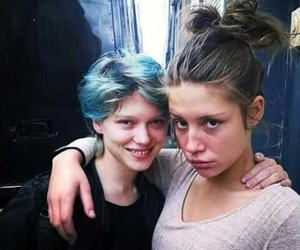 Lea Seydoux, adele exarchopoulos, and blue image