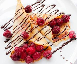food, chocolate, and raspberry image