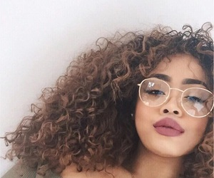 glasses, hair, and makeup image