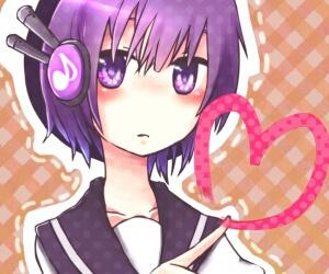 purple, anime, and girl image