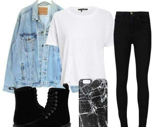 black, combat boots, and marble image