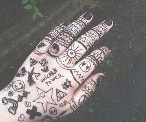 black, grunge, and hand image