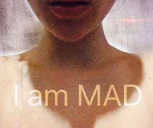 crazy, girl, and mad image