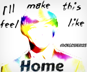 home, louis tomlinson, and one direction image