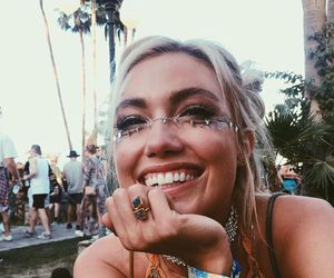 girl, blonde, and coachella image