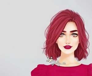 girly_m, art, and red image