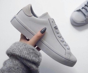 shoes, grey, and nails image