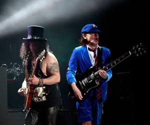 ac dc, angus young, and Guns N Roses image