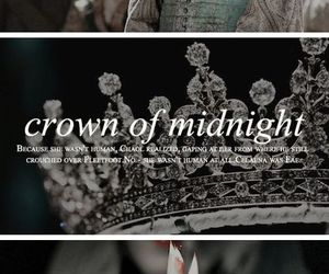 throne of glass, books, and crown of midnight image