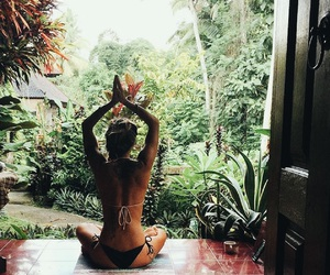 jungle, summer, and yoga image