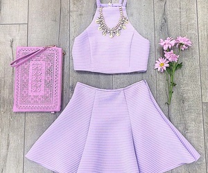 dress, outfit, and purple image