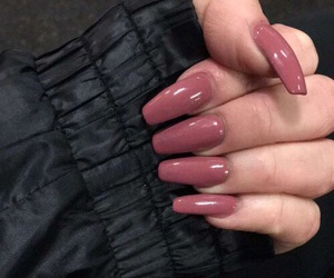 aesthetic, black, and nails image