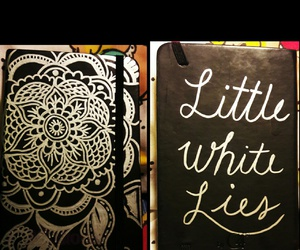little white lies, Mantra, and notebook image