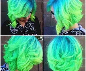 green, hair, and lovevcolour image