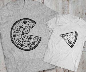 etsy, pizza, and matching shirts image