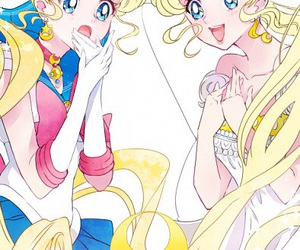 sailor moon and neo-queen serenity image