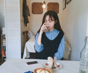 korean girl, ulzzang, and hwamin image