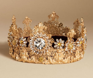 crown, dolce gabbana, and fashion image