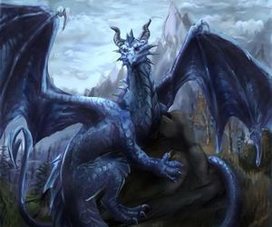 blue and dragon image