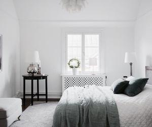 bedroom, interior, and window image
