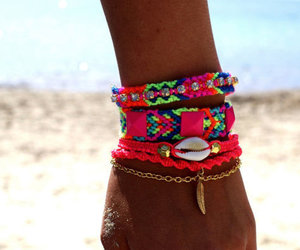 beach, summer, and bracelet image
