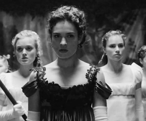 black and white, film, and Pride and Prejudice and Zombies image