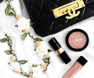 chanel, flowers, and tumblr image