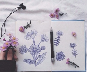 art, draw, and book image
